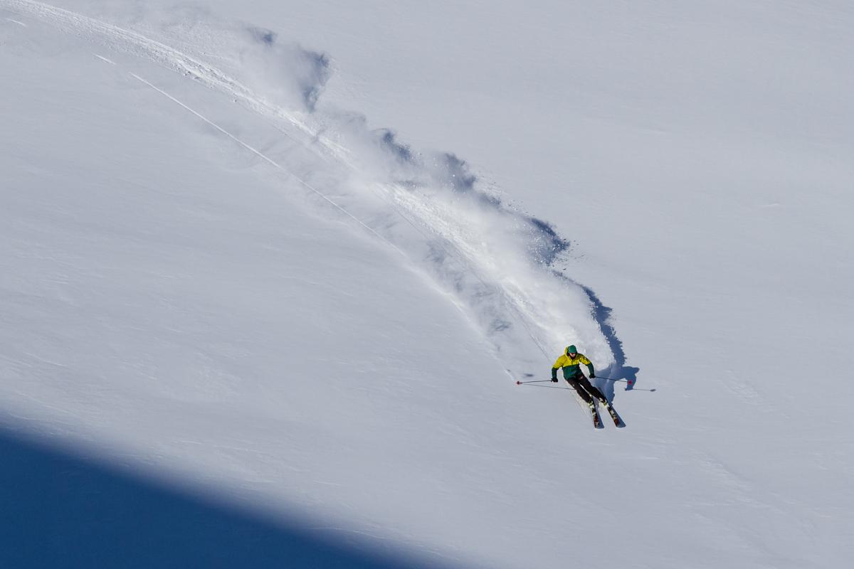 Thomas charging the slope