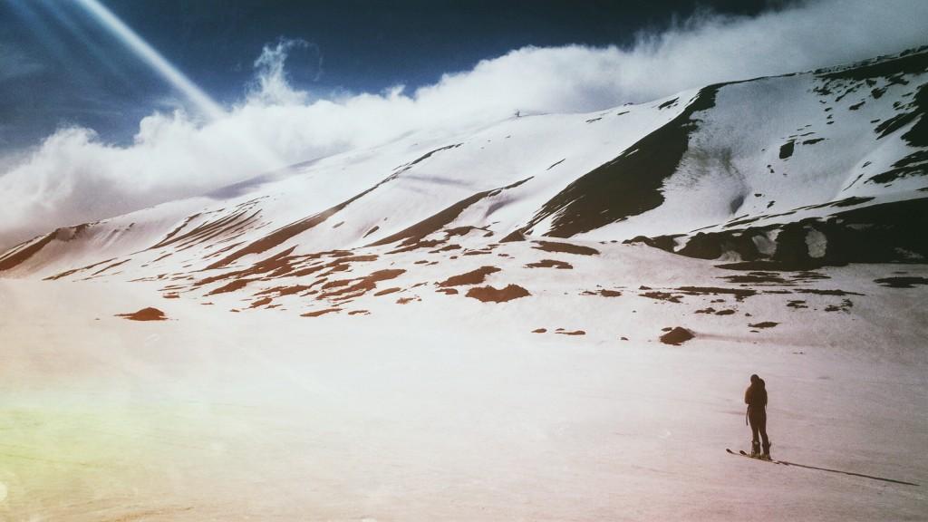 Season end on Nordenskiöld mountain