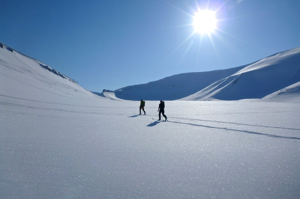 Skinning on Longyearbreen