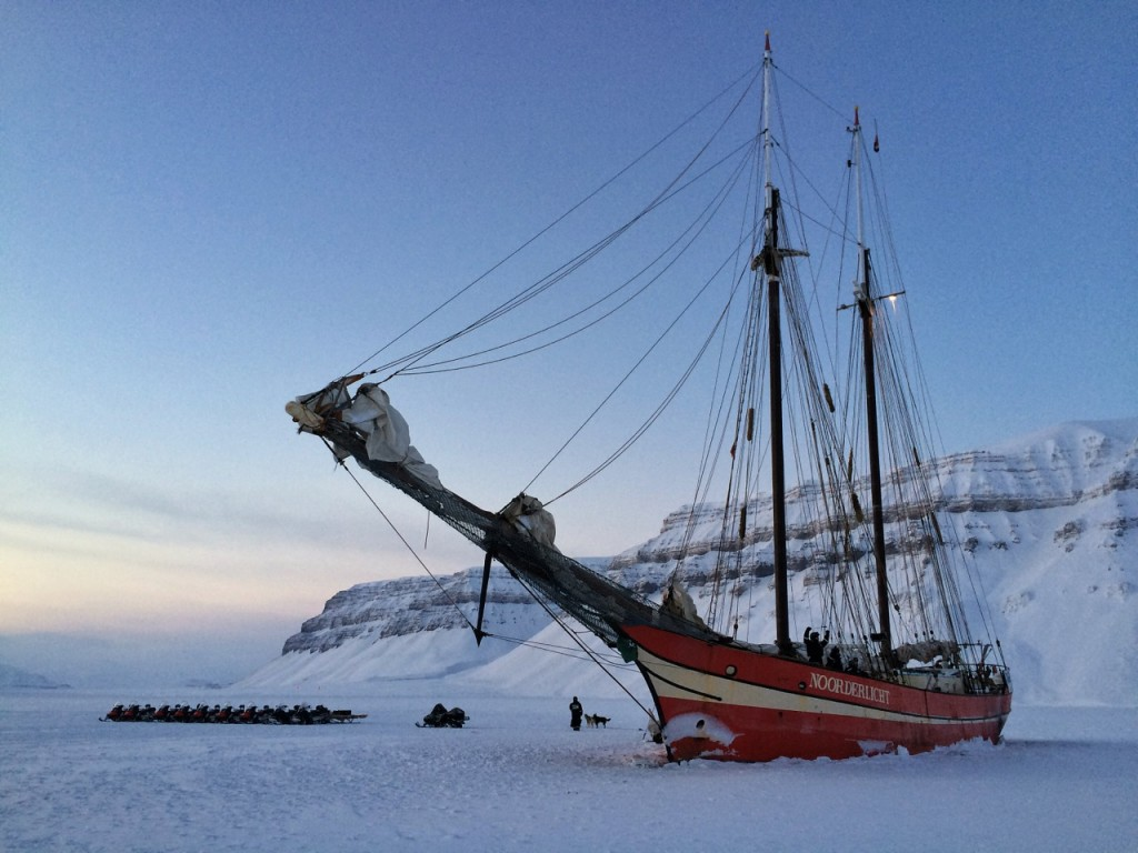 Noorderlicht is a fantastic place to have lunch on the sea ice.